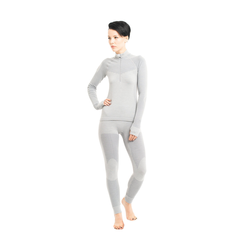Seamless, compression, wicking, comfort.