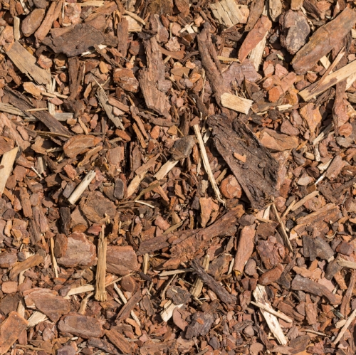 Mulch wood bark material