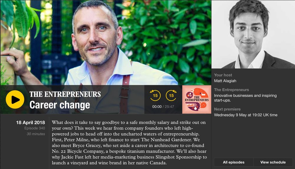 Radio Interview with Peter Milne - Career Change Entrepreneurs