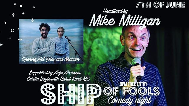 A blummin' hilarious line up this Thursday at the merchants tavern. Live comedy every Thursday from 8pm.