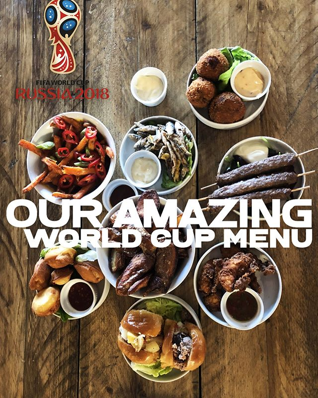 We have some amazing food on our World Cup menu. Hope to see you!