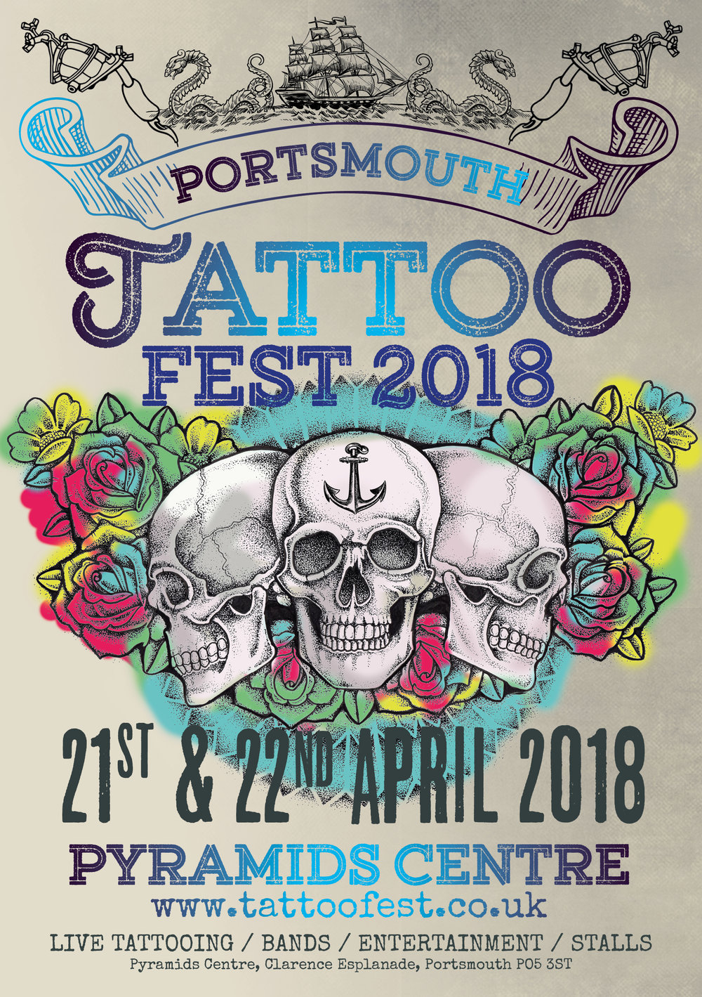 Tattoo Fest2018  - The annual tattoo event in portsmouth was held in sunny Southsea.A fantastic weekend event of live music and tattooing, trade stalls with entertainment across the weekend