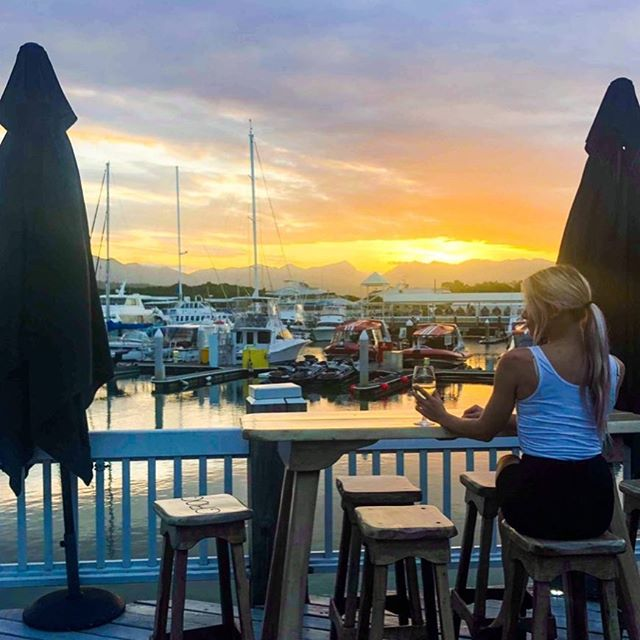 Come down to the Marina and sample our Tapas menu, or simply indulge in a vino and watch the sunset 👌 #portdouglasdaintree #portdouglasuncovered #choochoospd #portdouglaslife