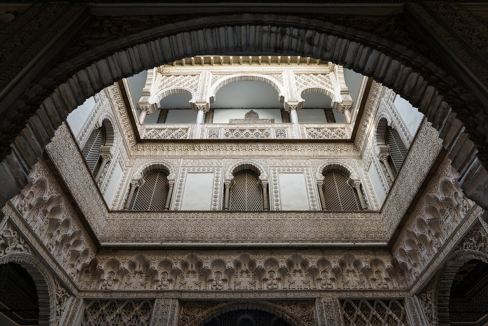 Arabic arches in Seville's Alcázar