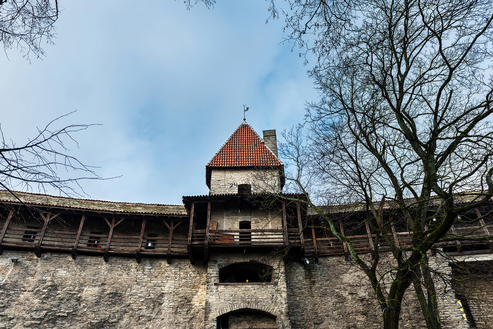Old tower gates and wall in Toompea