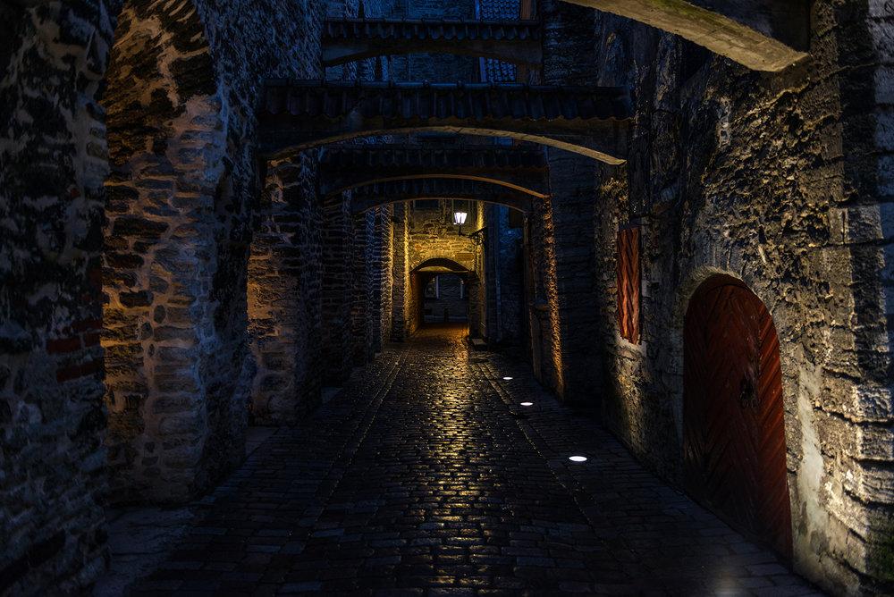 St. Catherine's Passage at night
