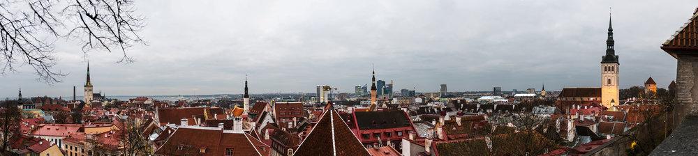 Panorama view of Tallinn from Kohtuotsa viewing platform