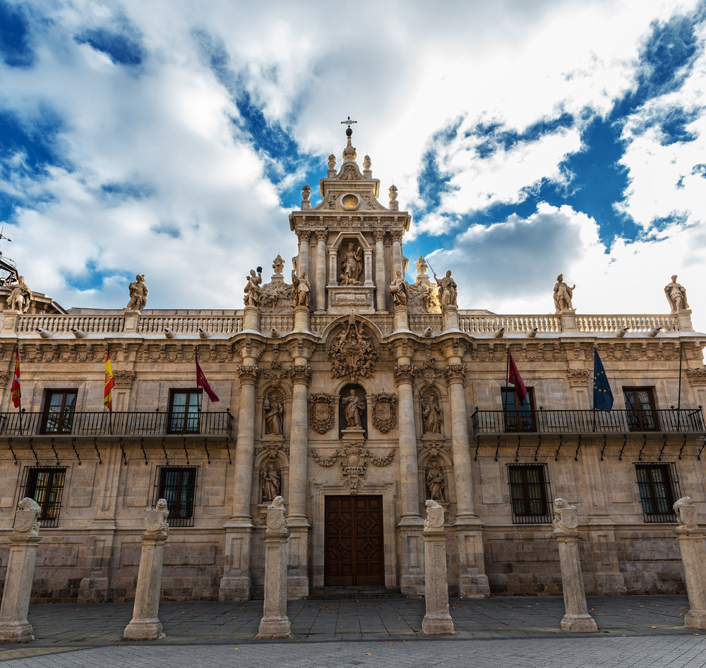 Baroque facade of the University of Valladolid
