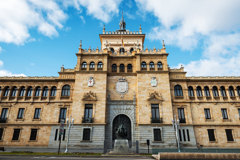 Cavalry Academy building in Valladolid