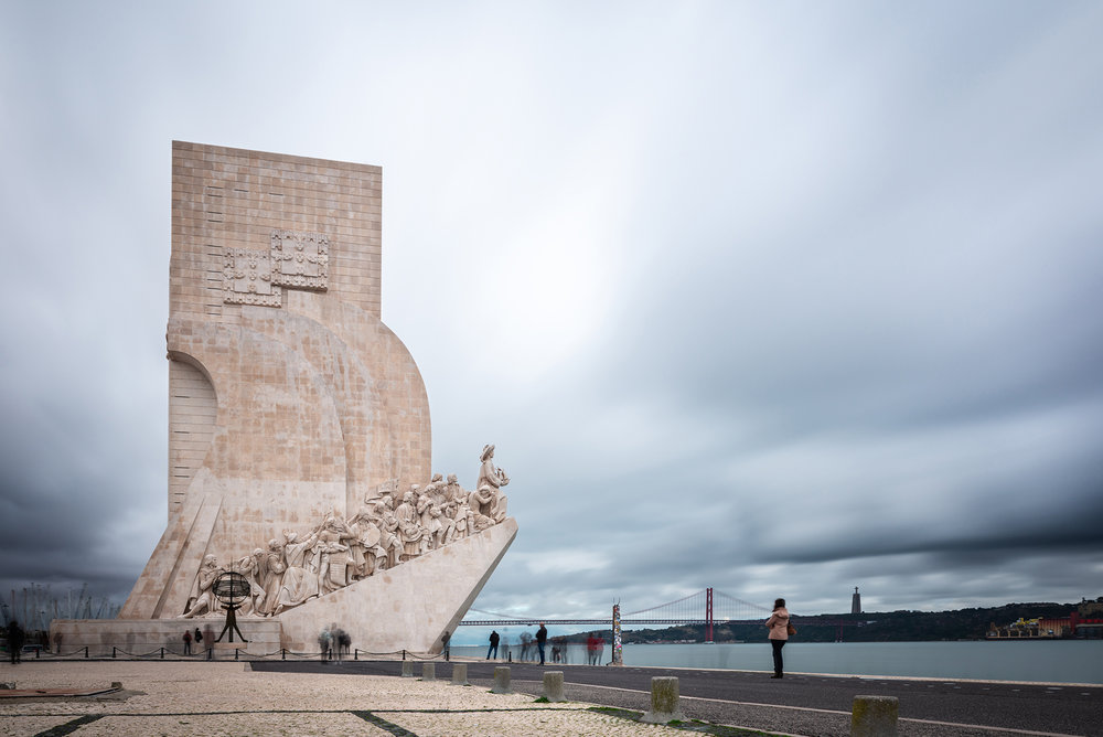 Monument to the Discoveries (Pedrao dos Descobrementos) on the North bank of the Tagus River