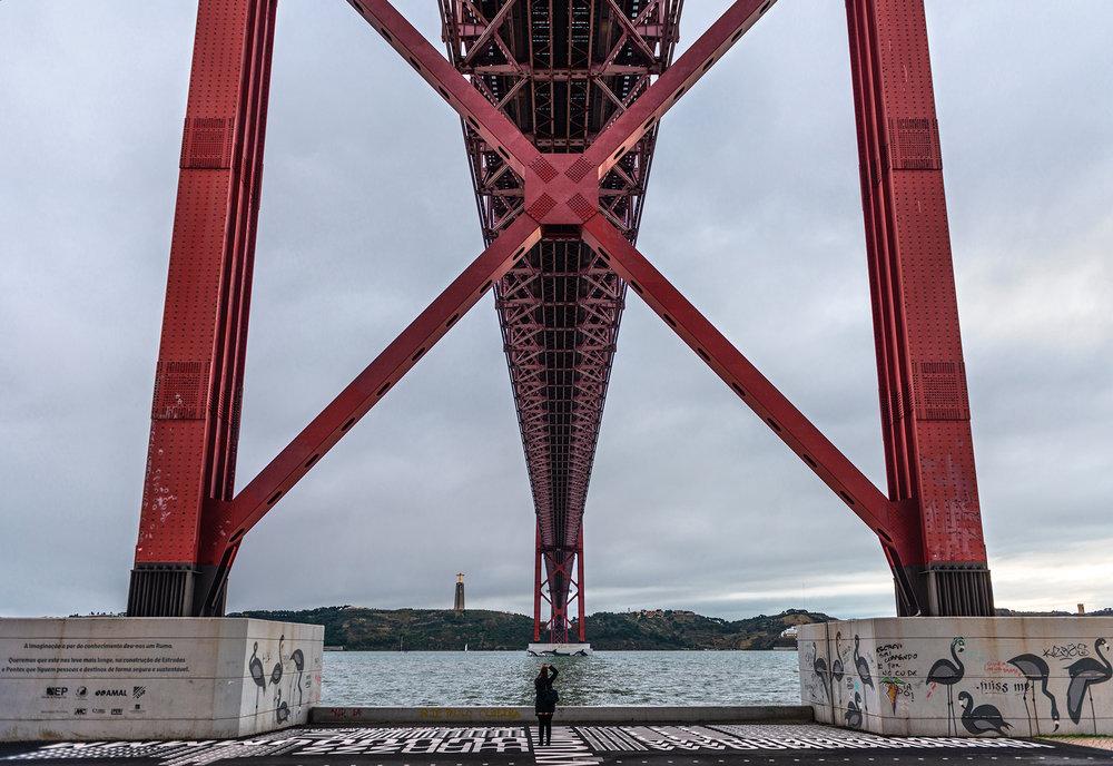 25 de Abril bridge in Lisbon