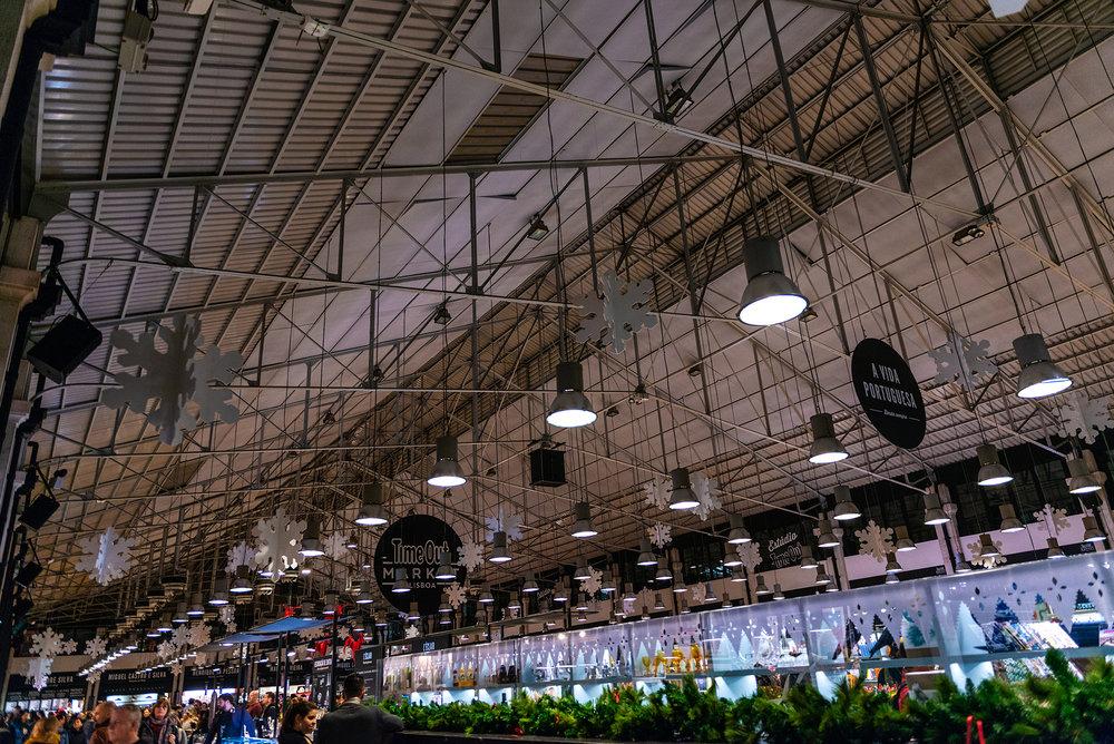 Mercado da Ribeira Food Market in Lisbon