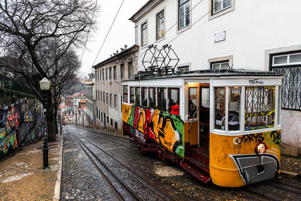Ascensor da Gloria in Lisbon