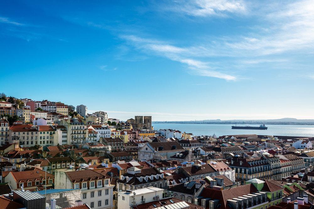 Skyline of Alfama in Lisbon