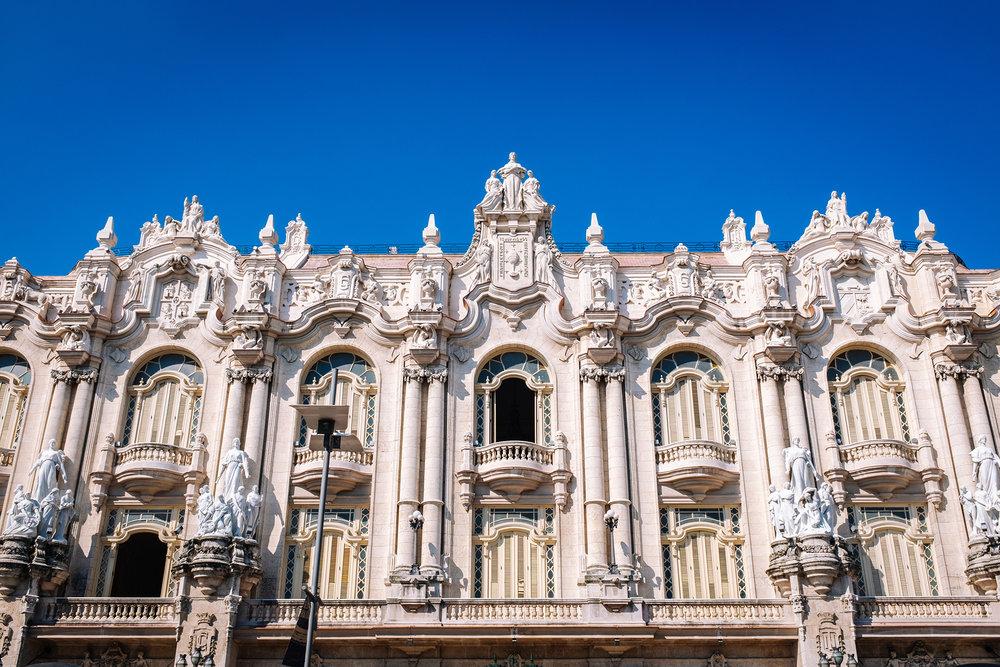 Facade of the Gran Teatro de La Habana Alicia Alonso