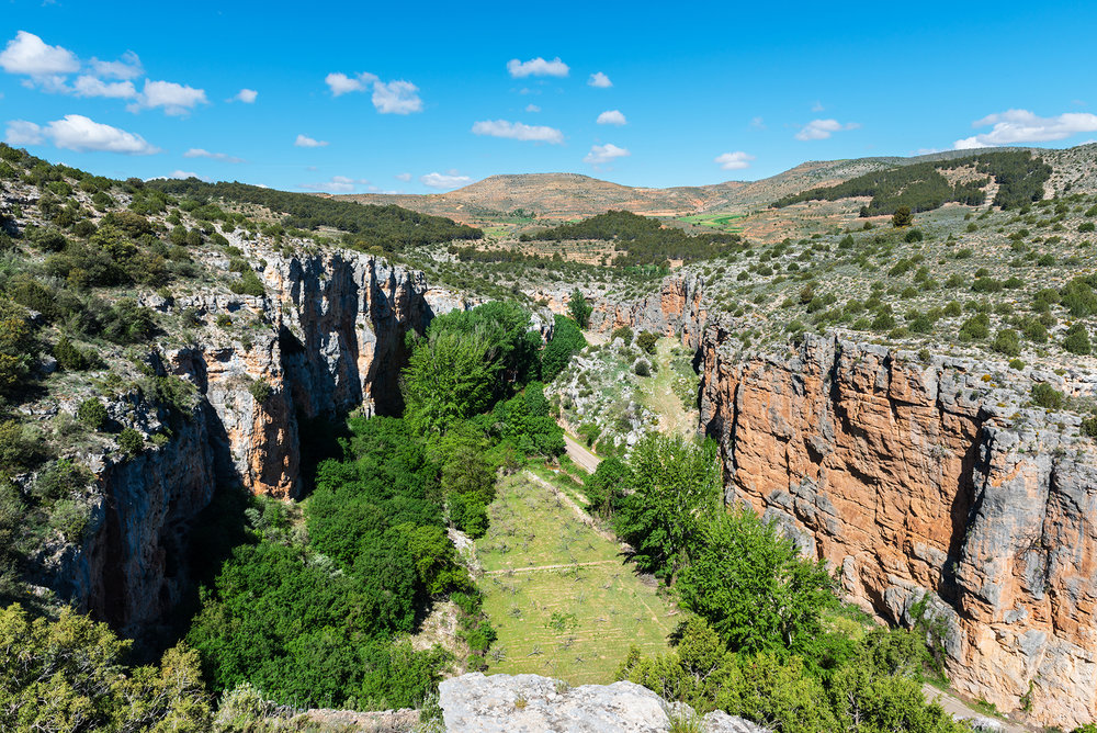 Canyon of the river Mesa in Aragon