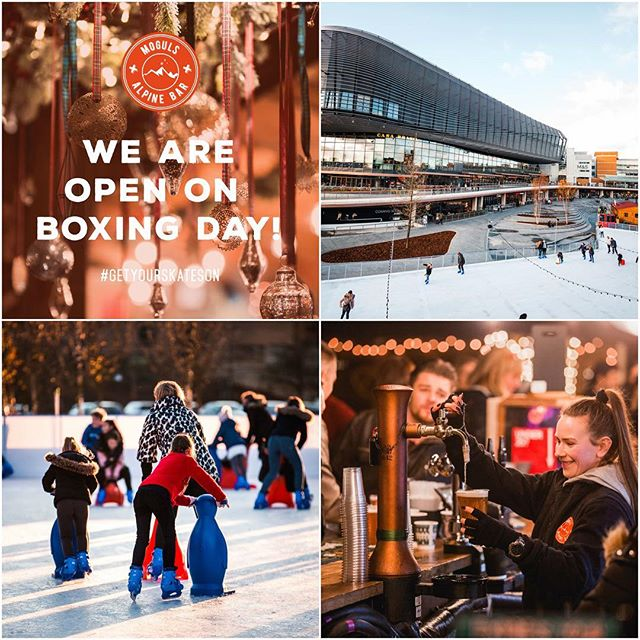 ⛸️ We're open for Boxing Day Fun! ⛸️ . . . Head on down and join us on the Ice for a family Skate or a game go Gliders before heading inside to cosy up in Moguls with our famous Hot Chocolates and Steins! . . . Select your session on    https://goo.gl/HujuxB (link in bio)  #westquayshoppingcentre #southampton #westquay #iceskate #ice #icerink #christmas #winter #photography #alpine #alpinebar #steins #hotchocolates #instagood #picoftheday #soton #southamptonbloggers #igdaily