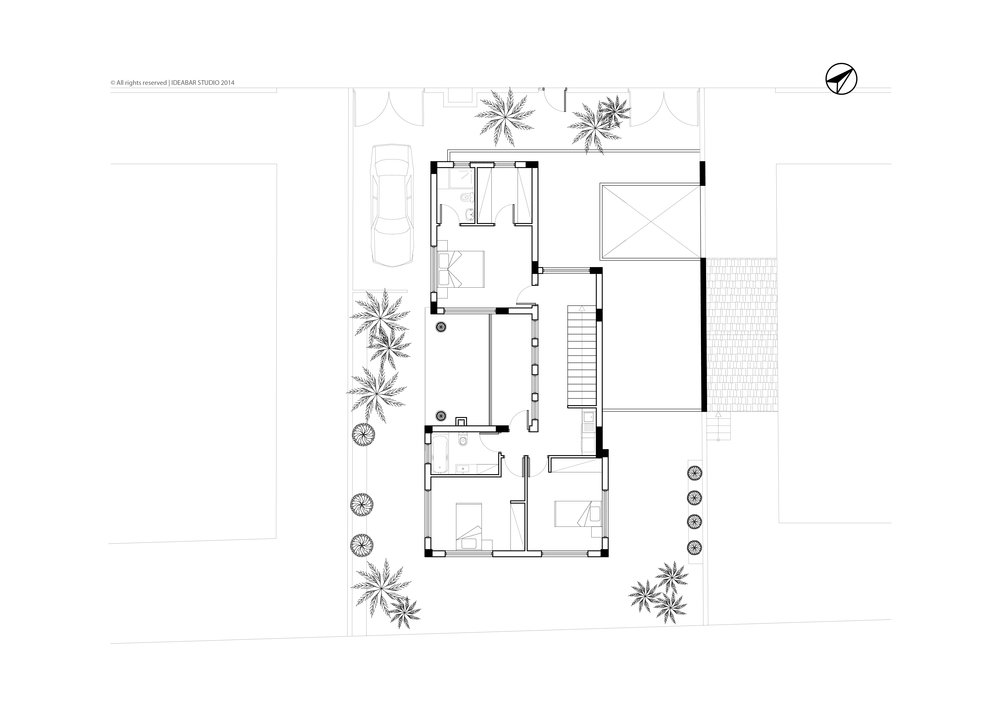 PRIVATE RESIDENCE IN LIOPETRI - FIRST FLOOR PLAN | ΙΔΙΩΤΙΚΗ ΚΑΤΟΙΚΙΑ ΣΤΟ ΛΙΟΠΕΤΡΙ - ΚΑΤΟΨΗ ΟΡΟΦΟΥ