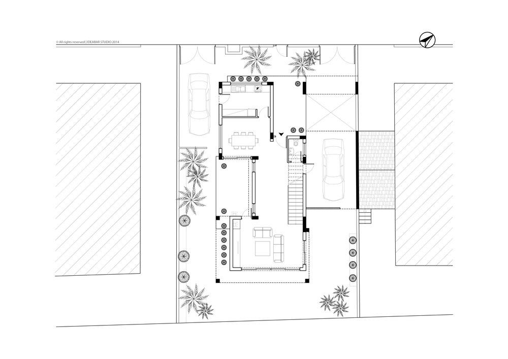 PRIVATE RESIDENCE IN LIOPETRI - GROUND FLOOR PLAN | ΙΔΙΩΤΙΚΗ ΚΑΤΟΙΚΙΑ ΣΤΟ ΛΙΟΠΕΤΡΙ - ΚΑΤΟΨΗ ΙΣΟΓΕΙΟΥ