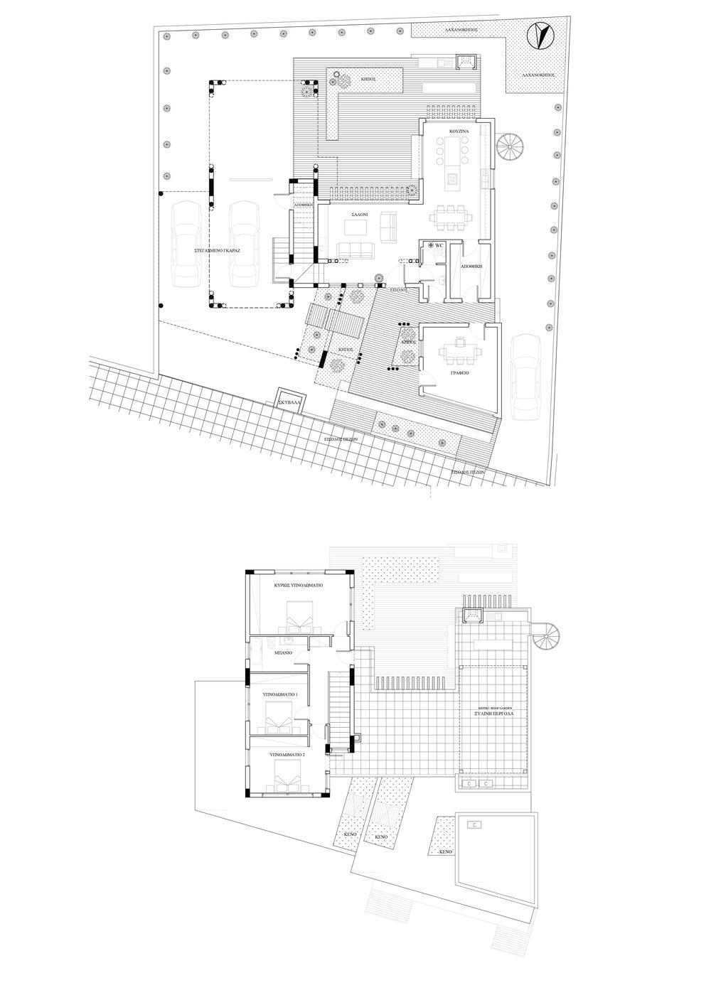 ARCHITECTURAL PLAN - RESIDENCE AND STUDIO IN ATHIENOY