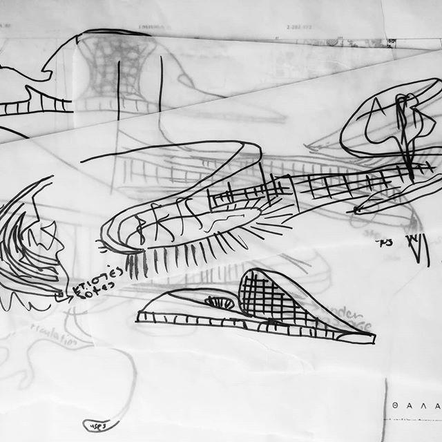brainstorming · sketching · testing new project on the drafting table  #ideabarstudio #architecture #architecturestudio #creativestudio #designprocess #cypriotdesigner