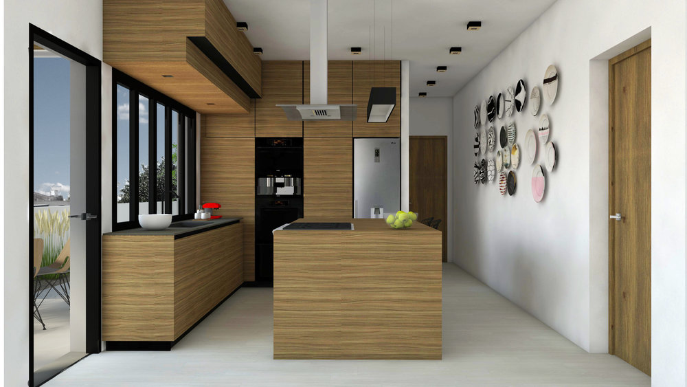 CUSTOM KITCHEN DESIGN - MINIMAL FUNCTIONAL DESIGN