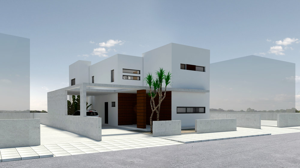 MINIMAL HOUSE - ARCHITECTURAL RENDER