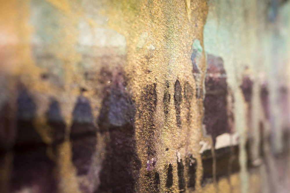 """Step 6 / The shimmer effects of Iridescent Watercolors for """"GAF on Ponca"""""""