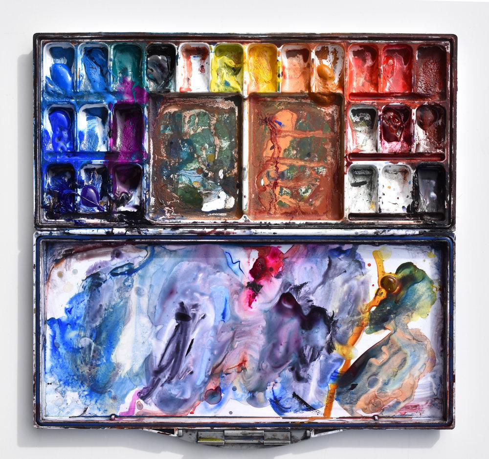 Ken Karlic's palette of his standard DANIEL SMITH Watercolors