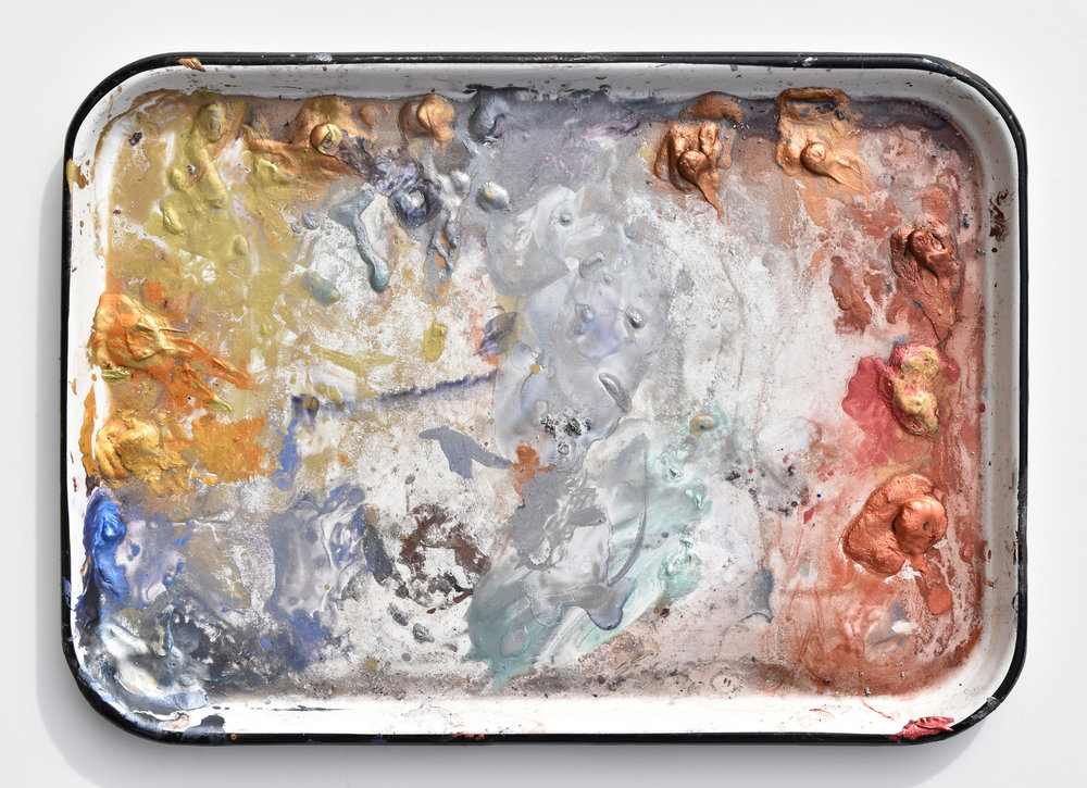 Ken Karlic's palette of DANIEL SMITH Iridescent Watercolors