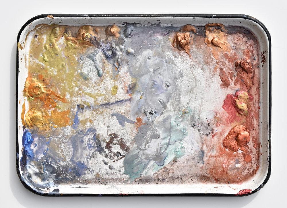 Ken Karlic's palette of DANIEL SMITH Iridescent Watercolors