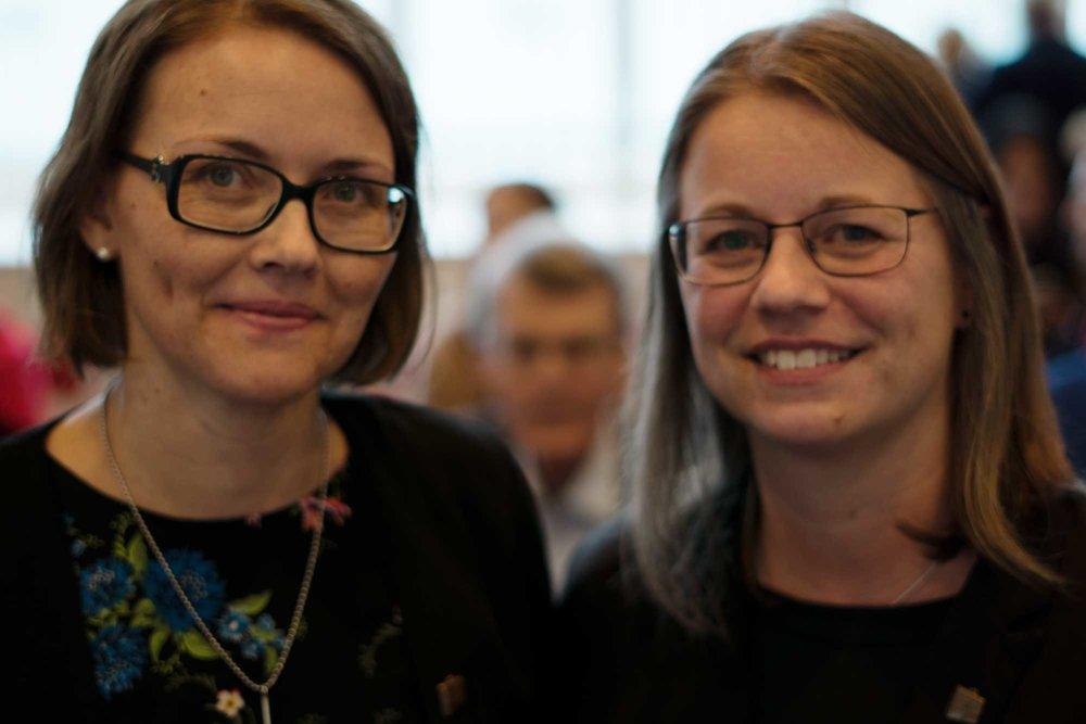 Linda Näslund och Helen Persson.