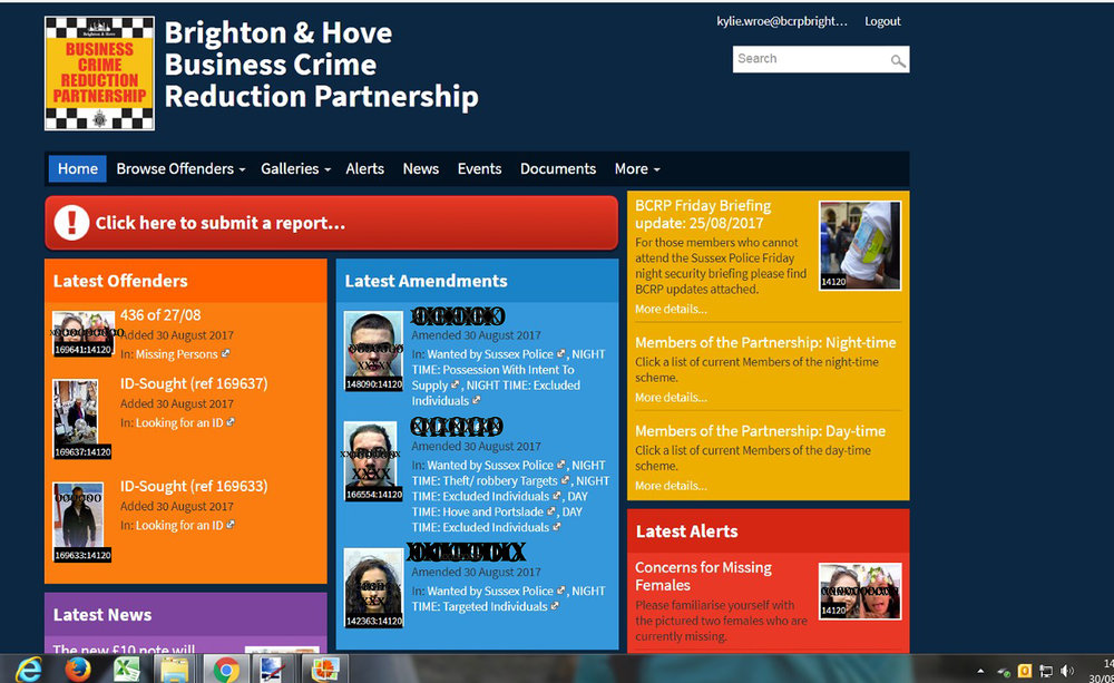 Brighton and Hove Business Crime Reduction Partnership DISC website