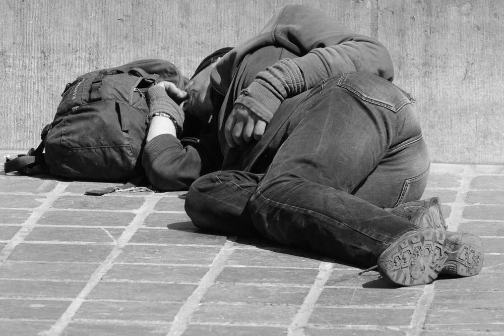 Homeless man - Greater Change a new way to donate to the homeless