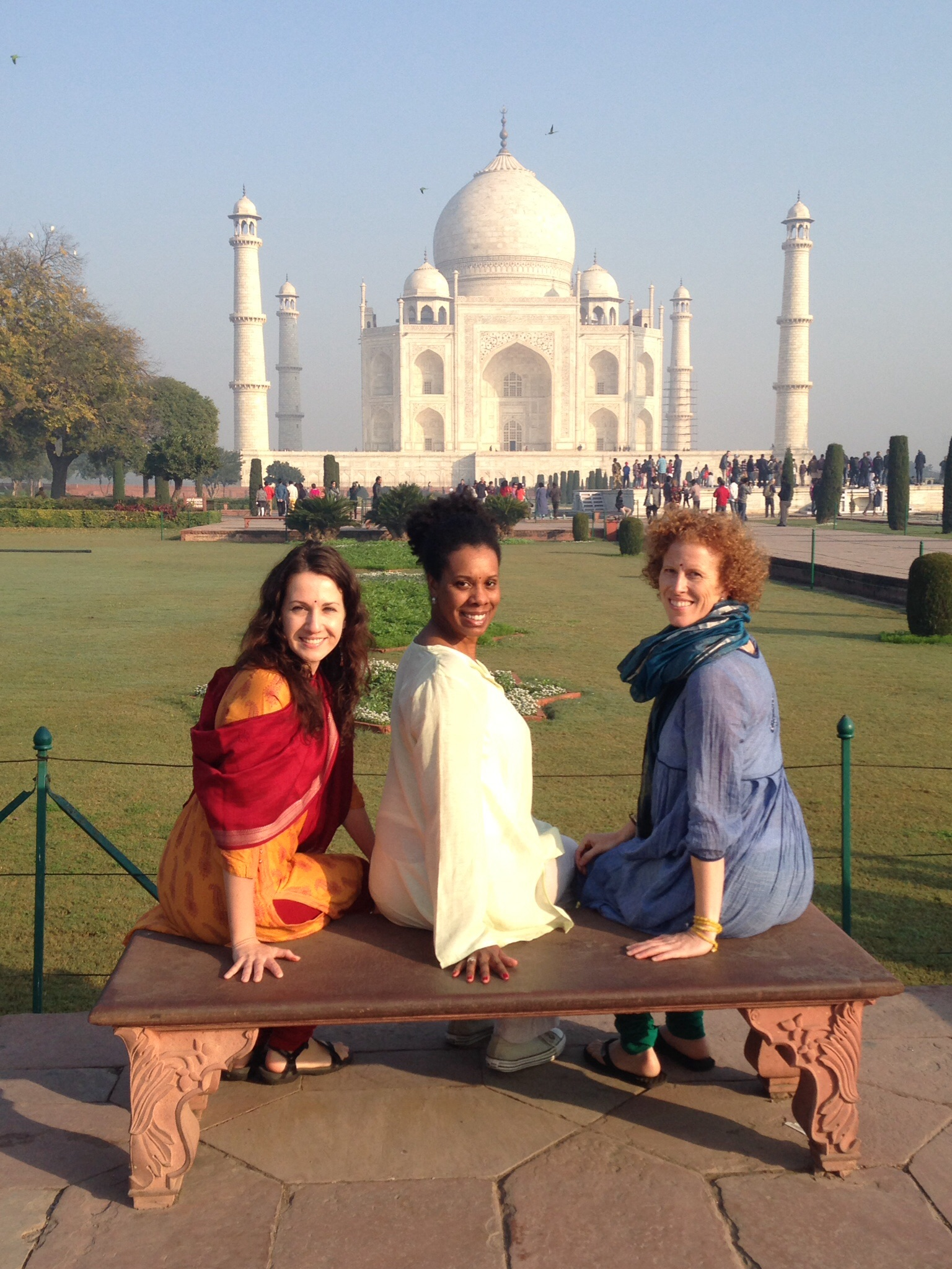 Vidya, Tasha, T'ai and the Taj