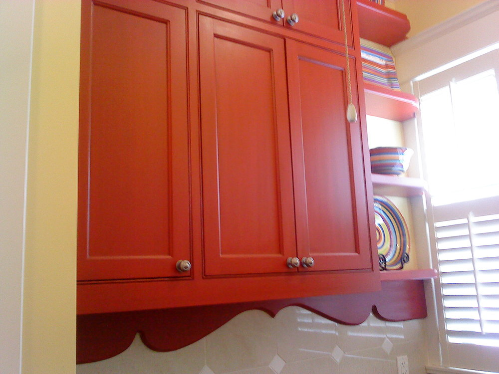 Accent cabinets. Part of a much larger Kitchen cabinet job.