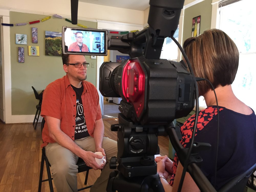 Jason Odhner was interviewed by co-producer Jessica Cvetic for over two hours in his home.
