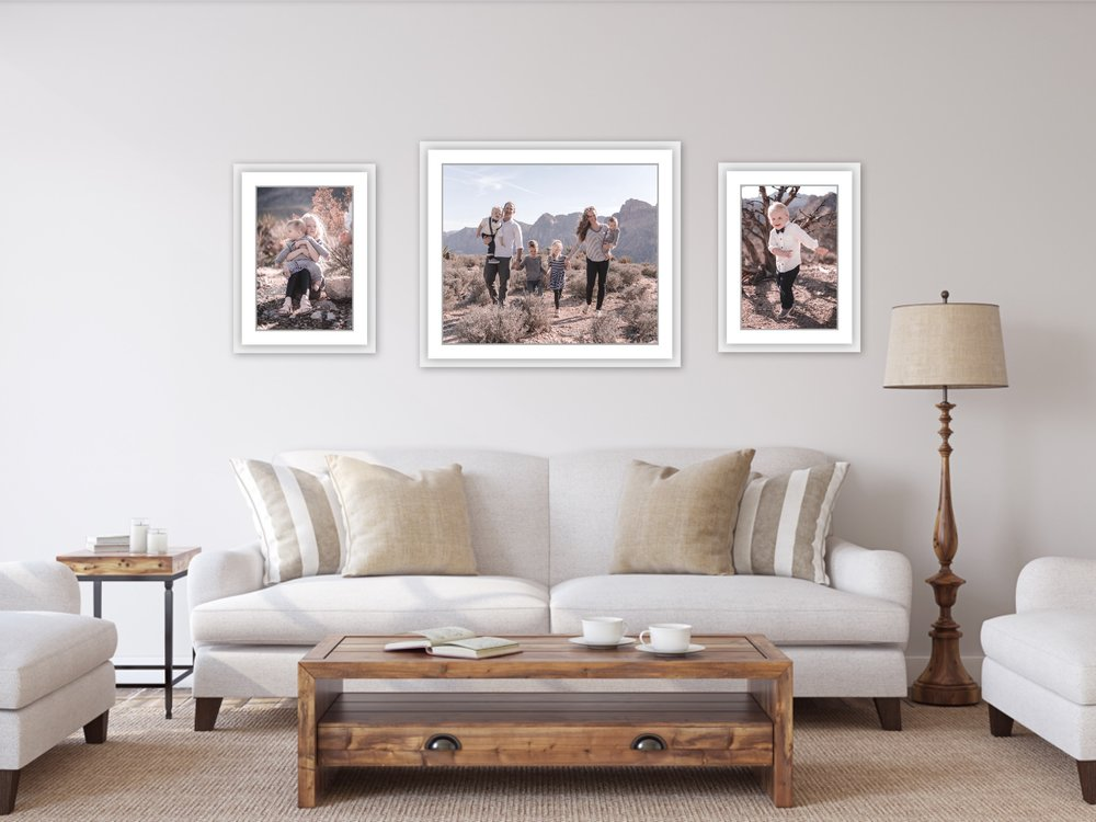 Wall Art Family Room Mockup