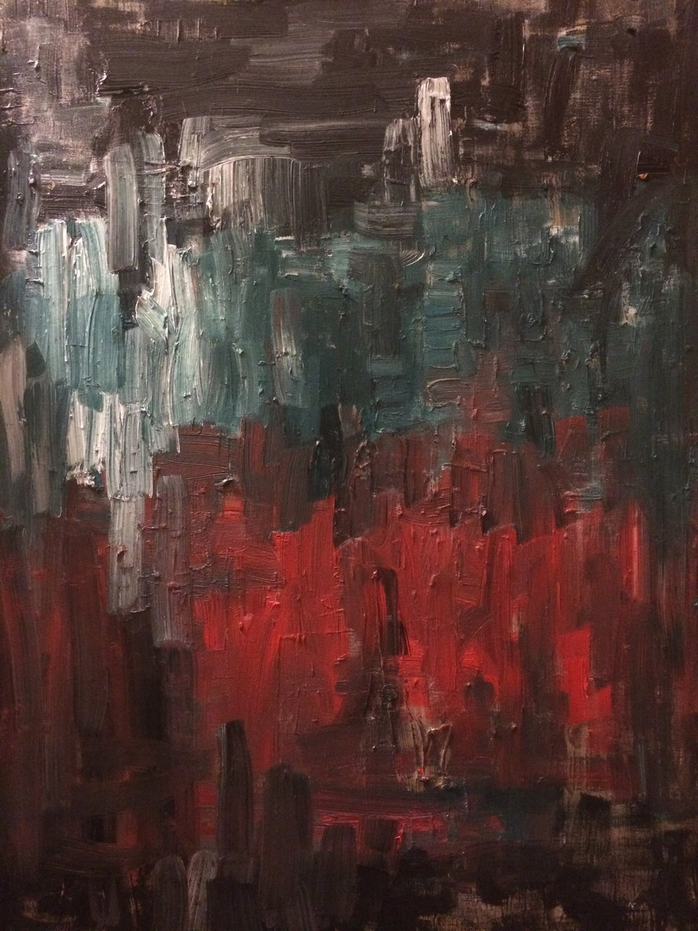Untitled Red and Blue Painting