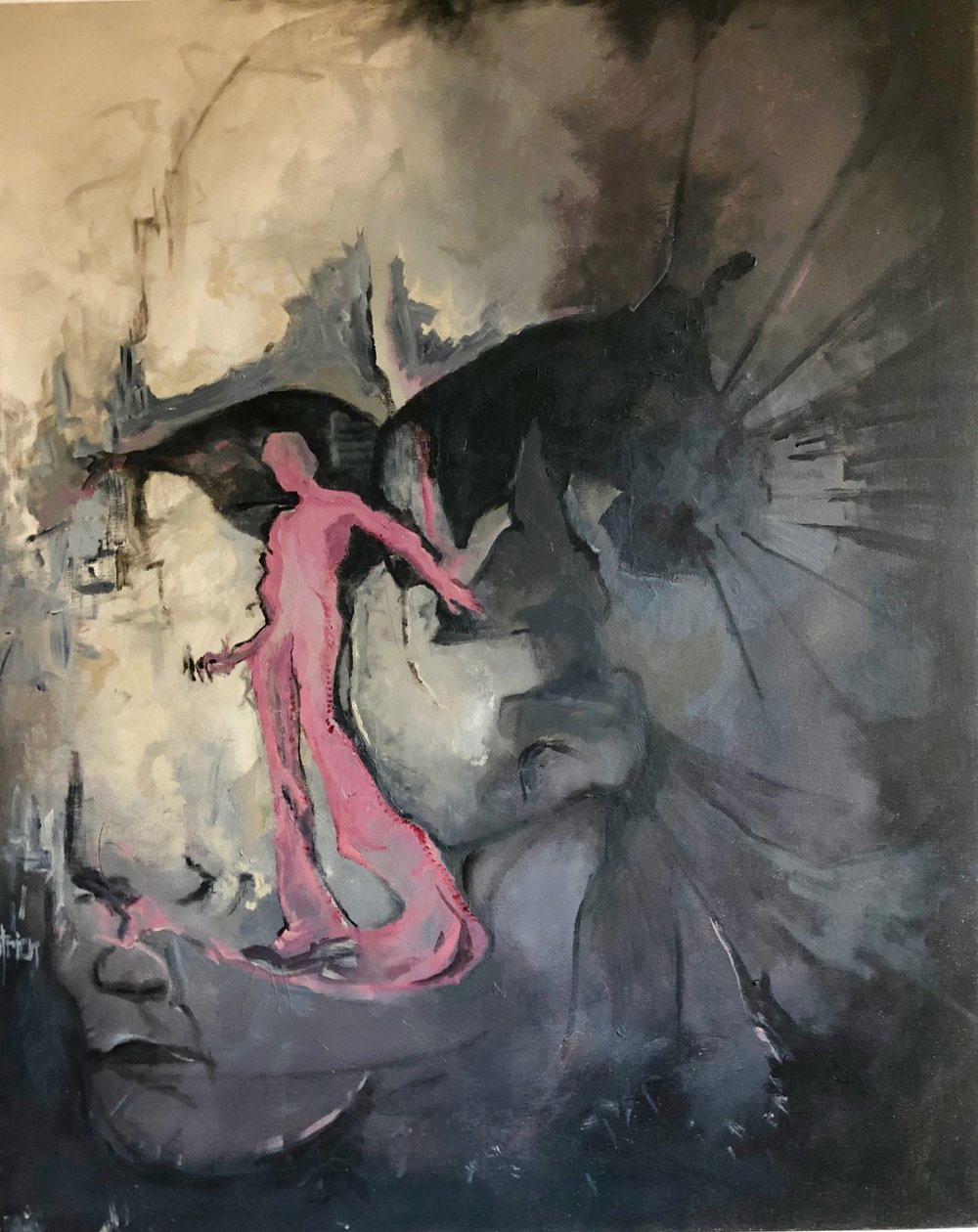 Untitled Figures Black and PInk