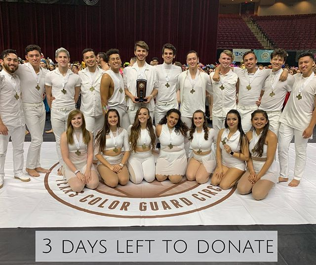We got third place at TCGC state championships and there are only three days left to donate before we get to Dayton! Coincidence? I think not. . . . . . #InvictUS #Invictus2019 #ThePathOfTotality #WGI #WGI2019 #TCGC #TexasColorguardCircuit #TCGC2019 #winterguard #colorguard #flag #rifle #sabre #dance #Invictus #Austin #Texas #donate #performingarts #nonprofit