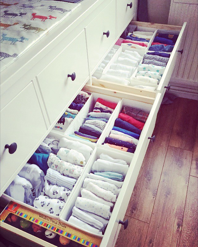 Raising twins mean you have to be extremely organised. Everything has it's place so that I can find something straight away.