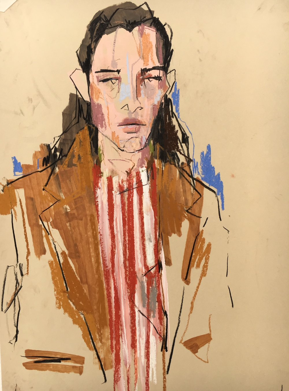 Commissioned by SHOWstudio as part of the SS19 Womenswear London coverage - illustrated live in their London studio.      Click to view/shop the piece on the SHOWstudio website.