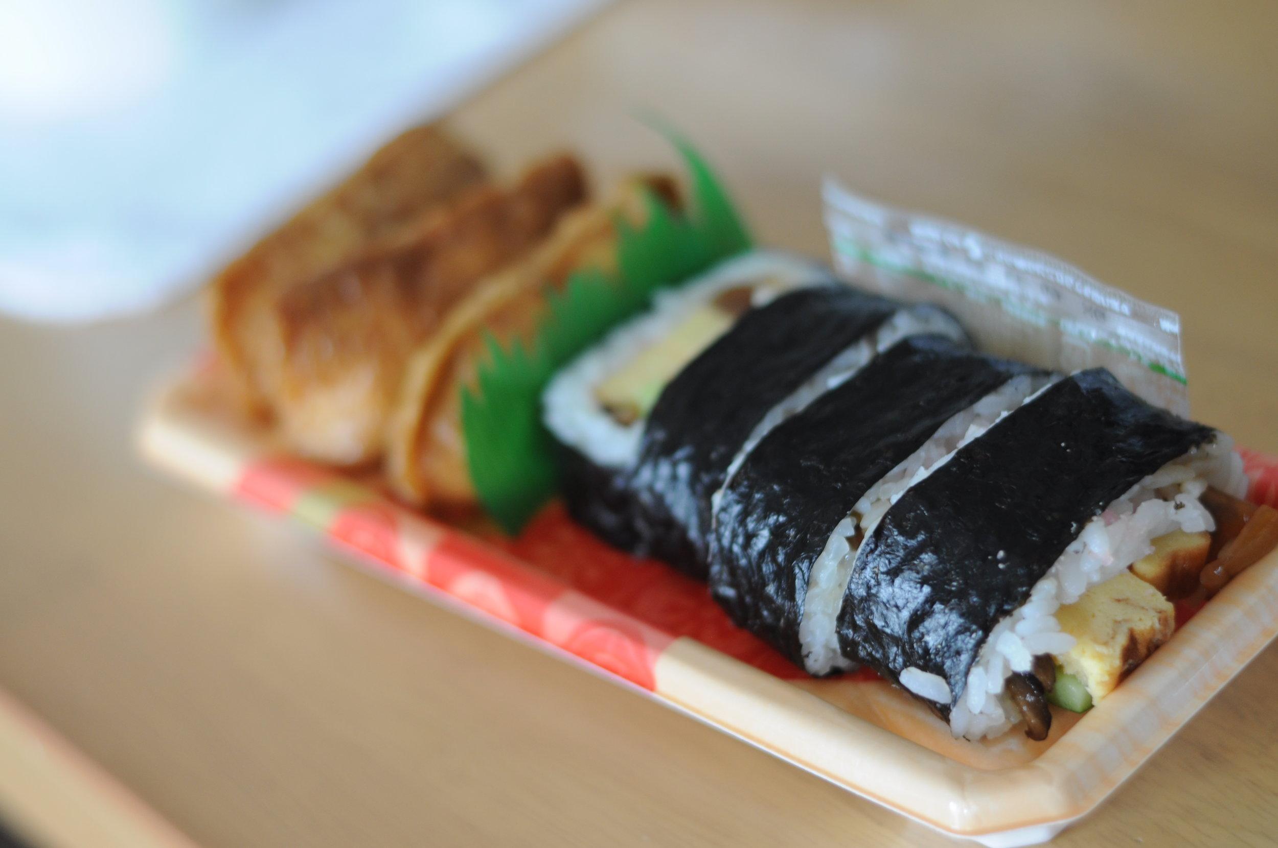 Sushi and Inari.