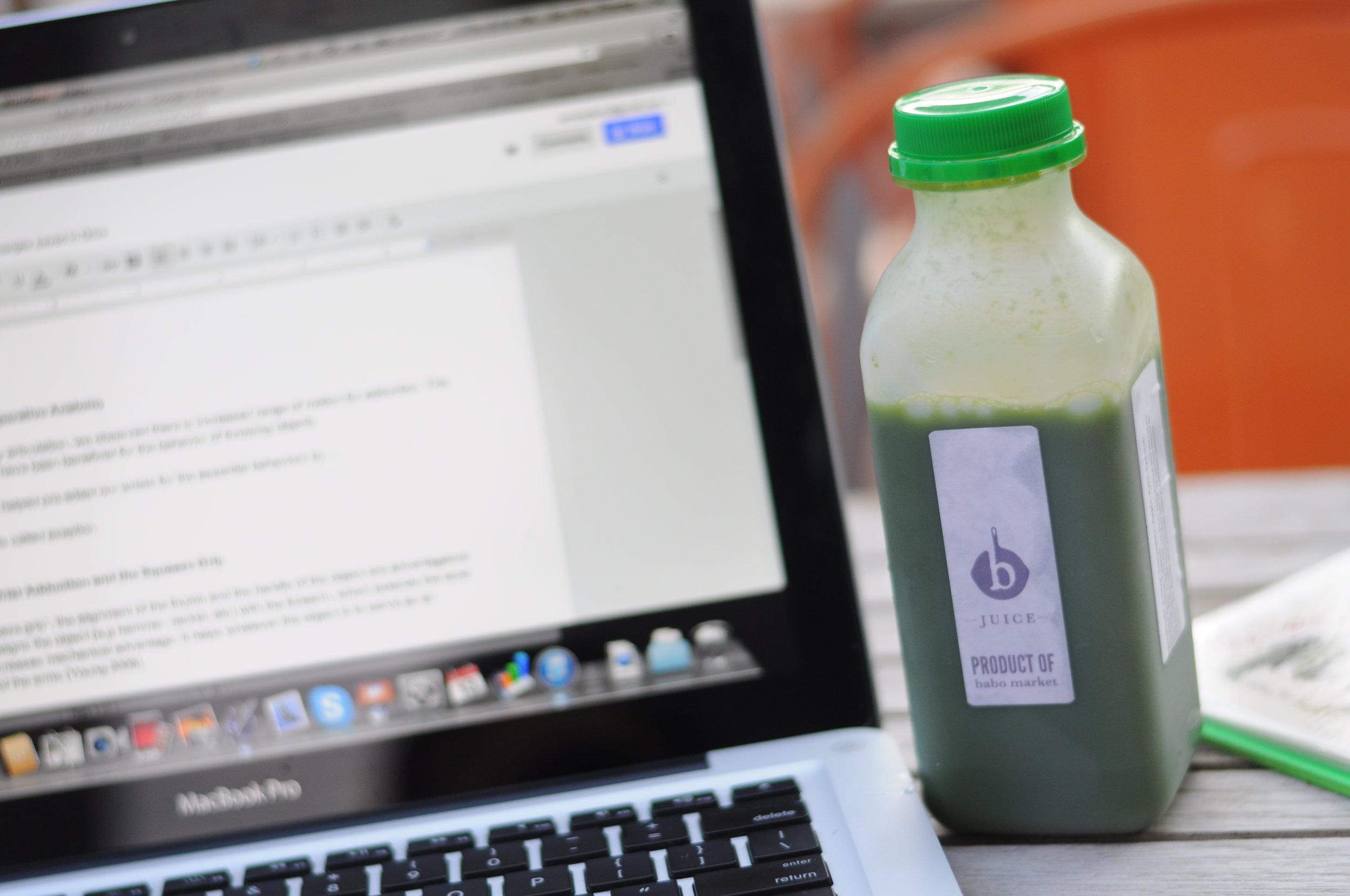 Babo green juice.