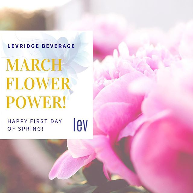 Spring finally arrived officially this week! March #FlowerPower! Happy first day of Spring from Levridge Beverage! #LEVlife #RaleighMade #SpringEquinox2019 #FlowerEssences #DrinkLEV #levridgebeverage