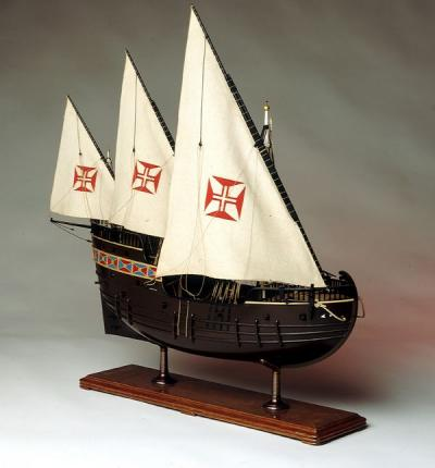 - Model of a Portuguese Caravel, the vessel which allowed the Portuguese to begin European global exploration and commercial activity. This technology precipitated the European colonial era, during which Europeans would use their seagoing advantages to extract wealth, resources, and human labor from distant points on the globe.