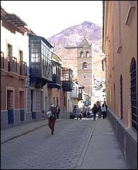 - Colonial street in Potosi, Bolivia, one of Spain's richest