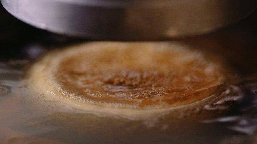 PURPLE GLAZE DONUT FRYING 1