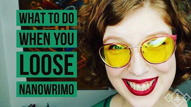 Premiering TOMORROW AT 6pm PST: What to do when you Loose NaNoWriMo. . . .  #writersofinstagram #nanowrimo #nanowrimo2018 #lostnanowrimo #nanowrimolooser #lost #writersbulletjournal #bulletjournalforwriters